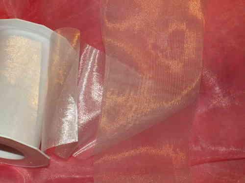 Tischband Organza 112mm weiß - Die Tischdekoration