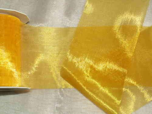 Tischband organza 112mm gelb - Die Tischdekoration