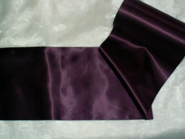Tischband satin 200mm breit aubergine lila die - Tischdeko aubergine ...