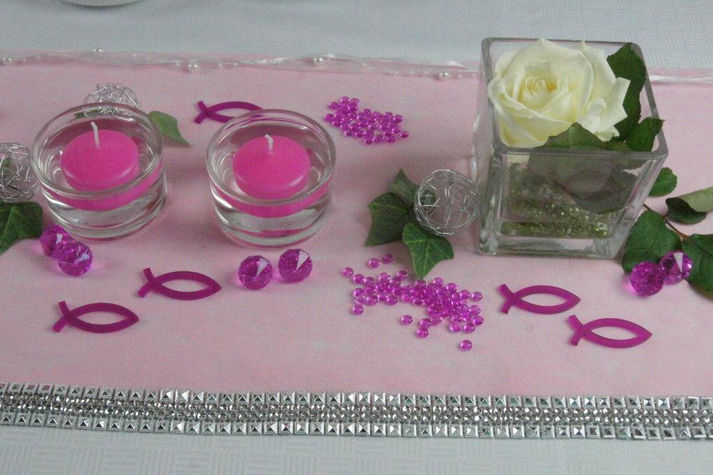 Tischdekoration kommunion pink tischdeko kommunion for Deko fa r kommunion