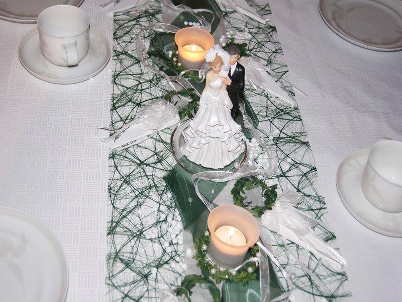 Tischdeko hochzeit brautpaar die tischdekoration - Brautpaar tischdeko ...