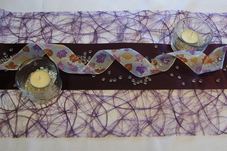 Tischdekoration herbst mit sizoweb die tischdekoration for Tischdeko aubergine