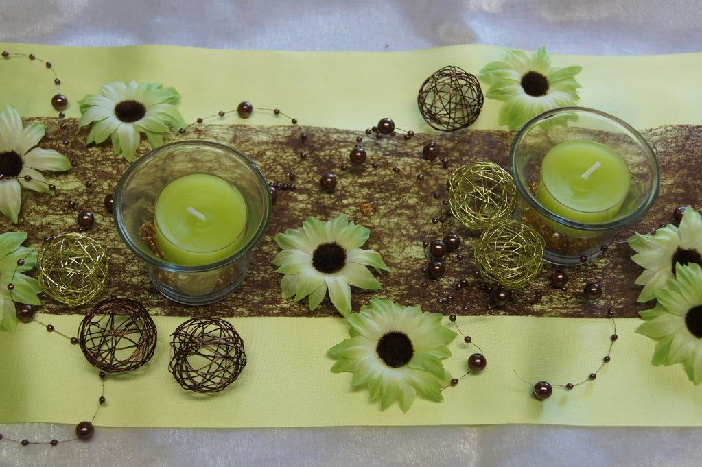 Drahtkugel klein gold kupfer braun - Die Tischdekoration