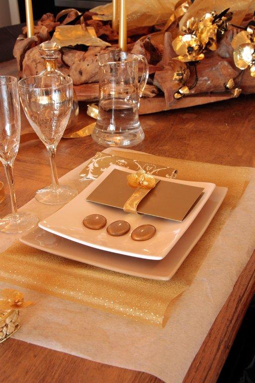 Organzaband gold punkte tischdeko shop for Tischdeko shop