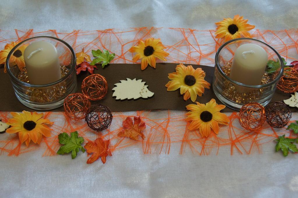tischdeko herbst sonnenblumen tischdeko shop. Black Bedroom Furniture Sets. Home Design Ideas