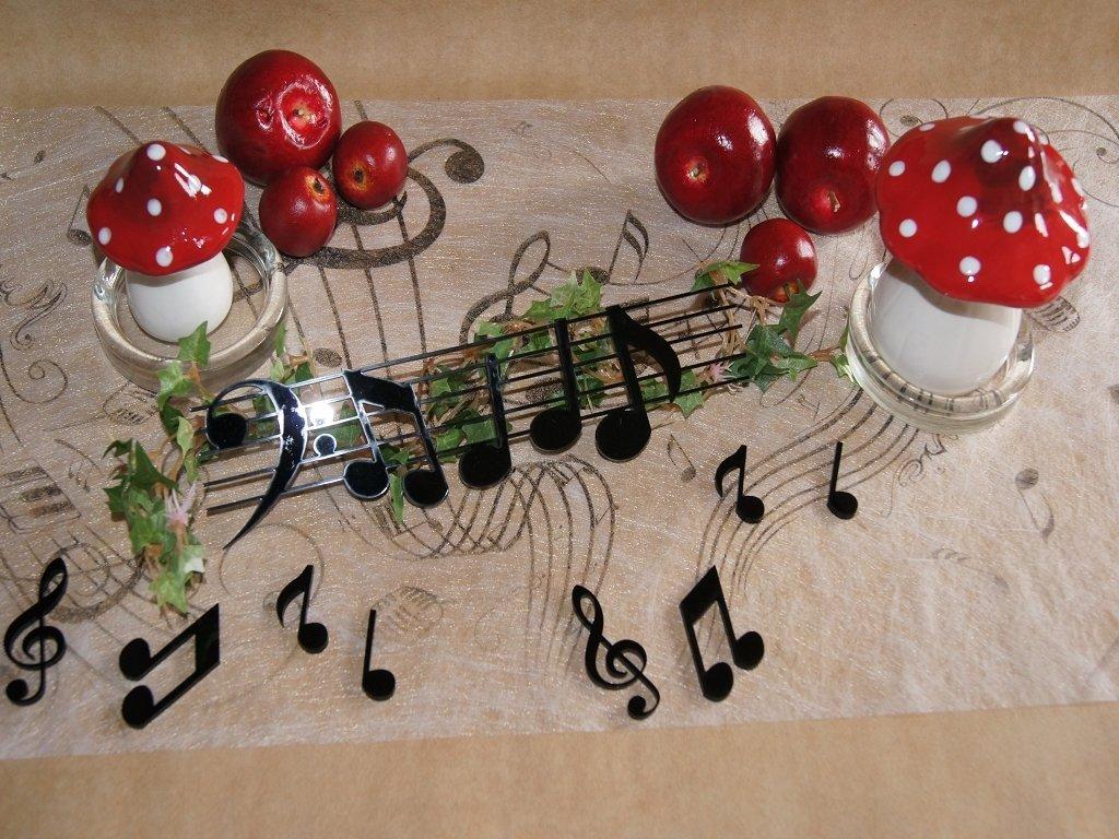 Tischdeko Musik Tischdekoration Musik