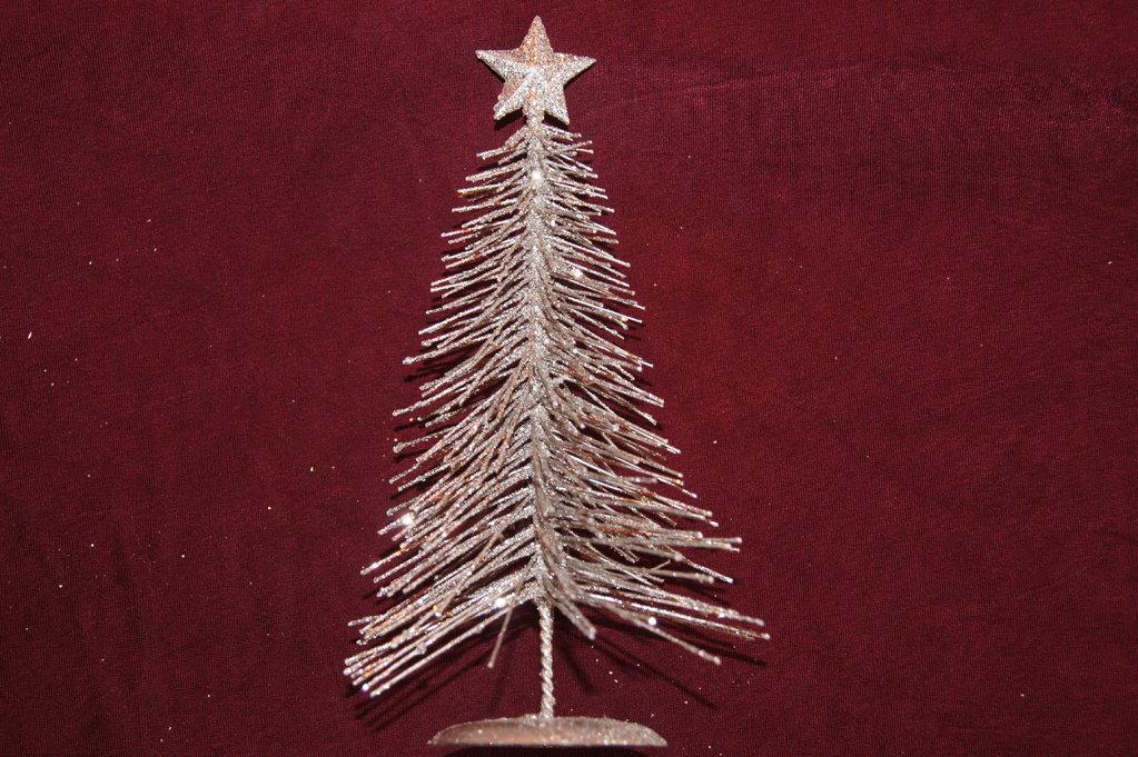 tannenbaum draht silber klein tischdeko weihnachten. Black Bedroom Furniture Sets. Home Design Ideas