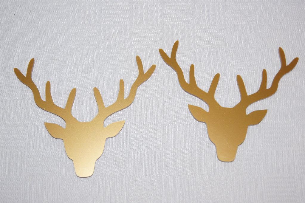hirschkopf gold acryl tischdeko jagd. Black Bedroom Furniture Sets. Home Design Ideas
