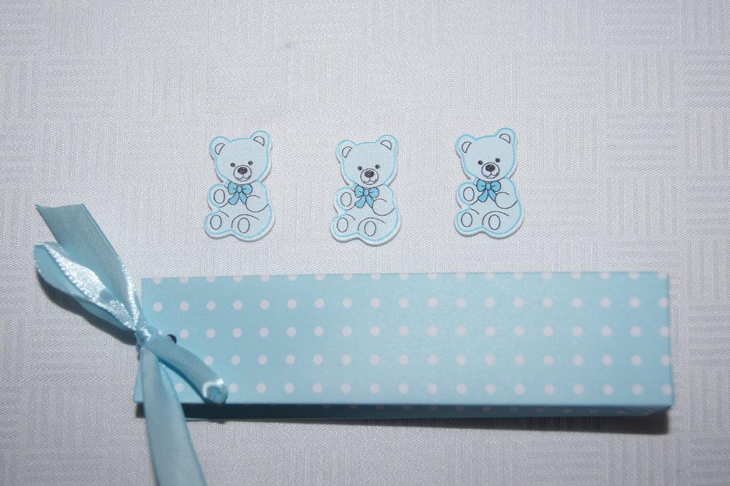 Gastgeschenk Taufe Karton blau - Tischdeko Taufe
