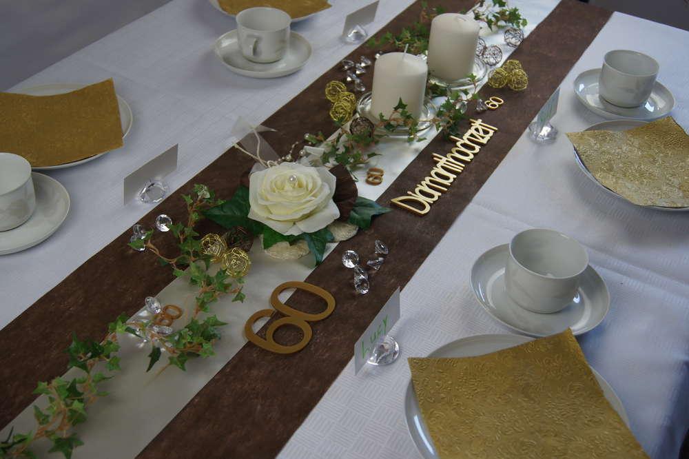 Tischdekoration Diamantene Hochzeit Die Tischdekoration
