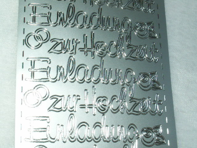 Konturen Sticker Einladung Zur Hochzeit Silber