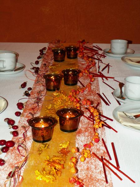 Tischdeko herbst 9 die tischdekoration zu allen for Tischdekoration herbst
