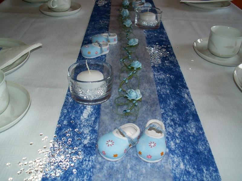 Tischdeko Taufe Blau 1 Tischdeko Taufe