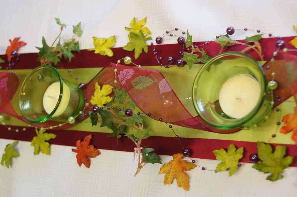 Herbstliche Tischdeko herbstliche tischdeko die tischdekoration