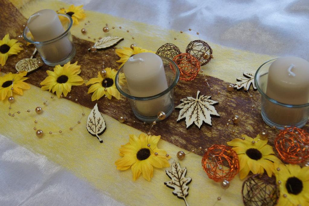 Sonnenblumen gelb tischdeko shop for Tischdekoration herbst