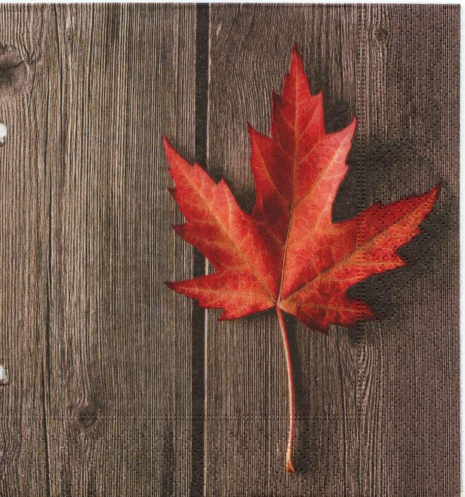 Servietten Tisch Herbstblatt