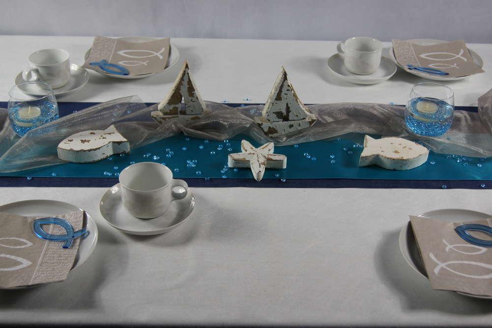 Tischdeko Kommunion Turkis Tischdeko Kommunion