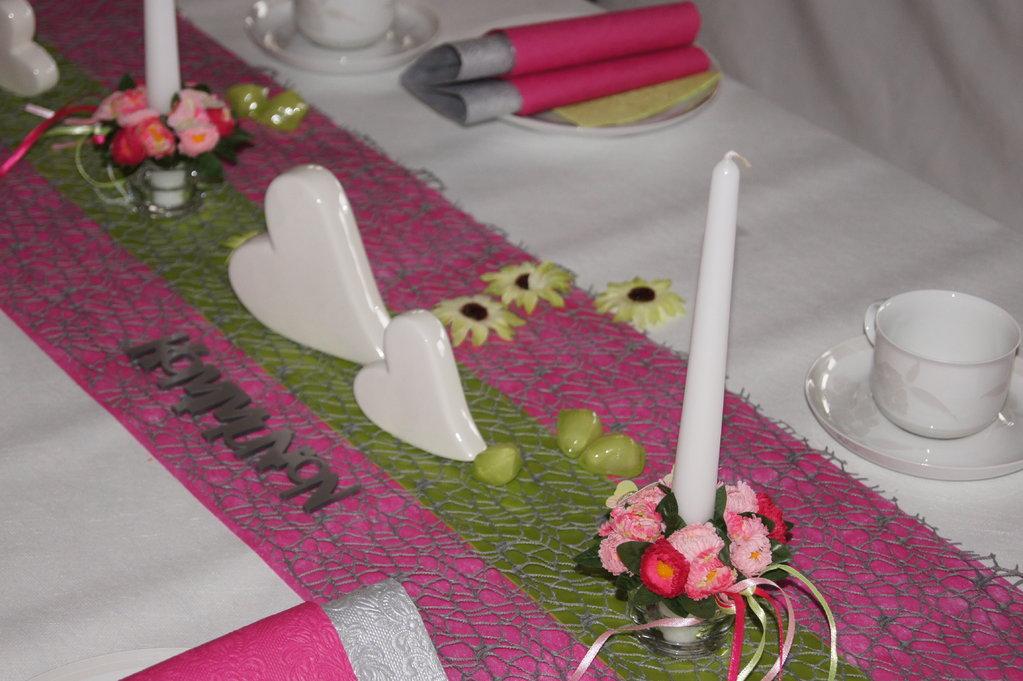 Tischdeko Kommunion In Pink Tischdeko Kommunion