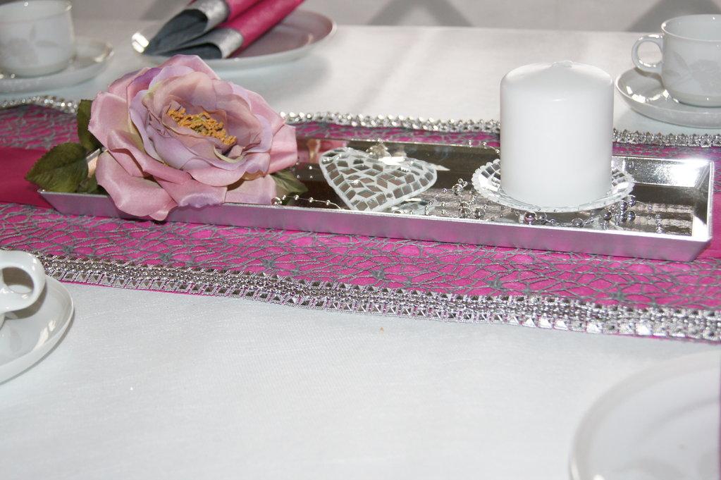 Tischdeko silberhochzeit pink tischdeko silberhochzeit for Tischdeko pink