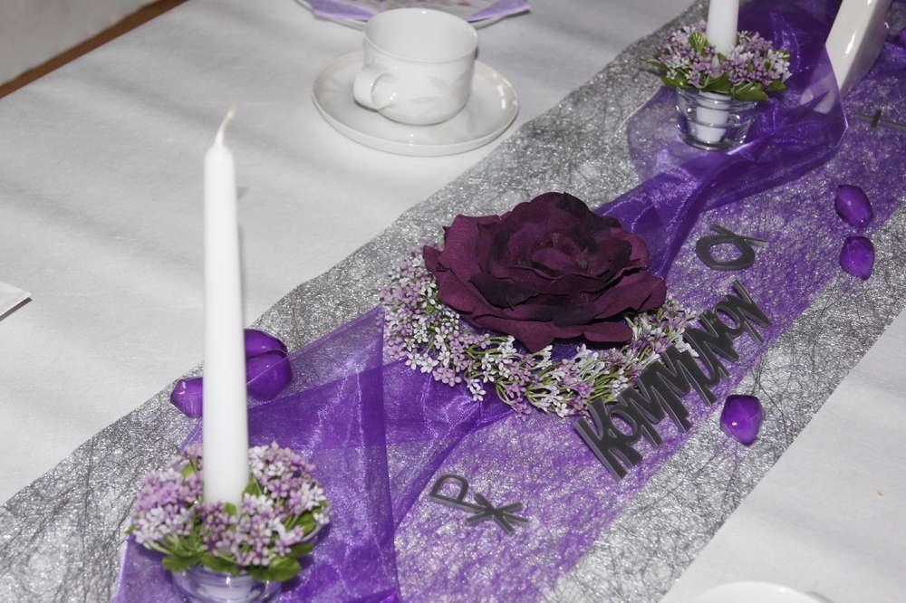 tischdeko kommunion lila - tischdeko kommunion, Terrassen ideen